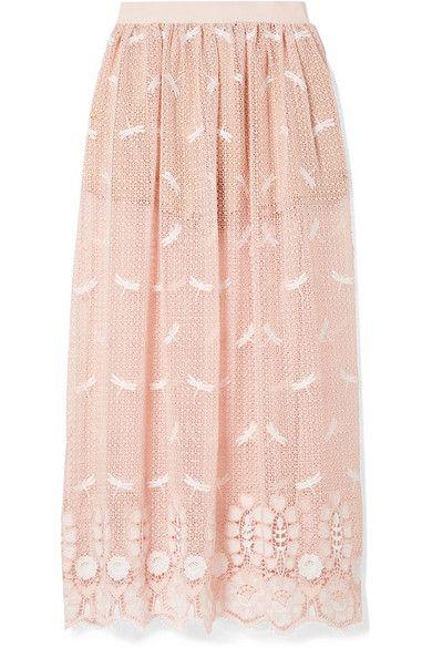 491b312d4d Miguelina - Paris embroidered crocheted cotton maxi skirt en 2019 ...