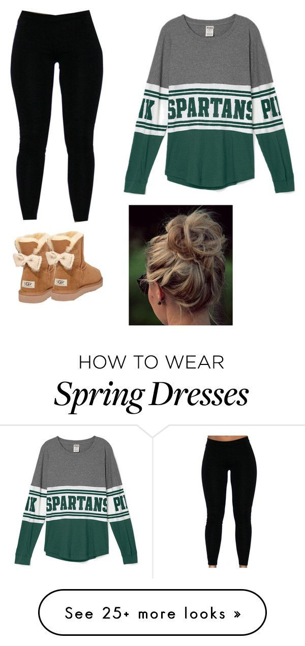 """MSU Game Day"" by afleedy on Polyvore featuring UGG Australia"