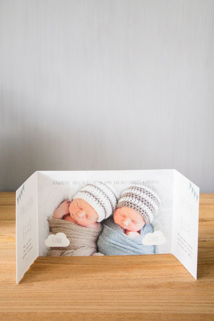 Geboortekaartje Finn & Luke - tweeling jongens - Ontwerp door www.leesign.nl #tweeling #geboortekaart #geboortekaartje #twin #twins #jongens #birthannouncement #leesign #twinbirthannouncement #birthcard