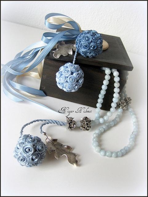 aquamarine taşlı tesbih by nigarhikmet, via Flickr