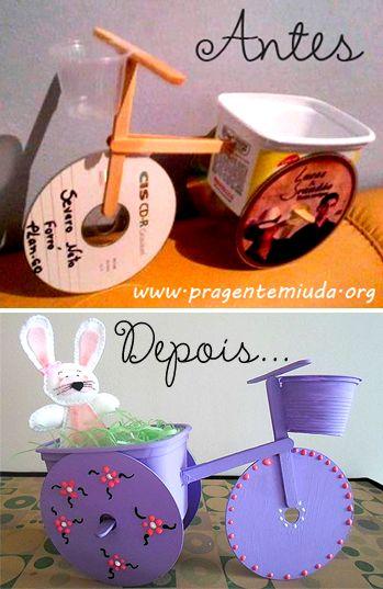 Pra Gente Miúda: Lembrancinha de páscoa reciclada
