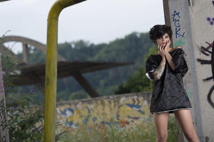 #gabrielladeplano #fashion #collection2013 # tshirt #velvet #moda #madeinitaly #black #double #haori #japanese #silk