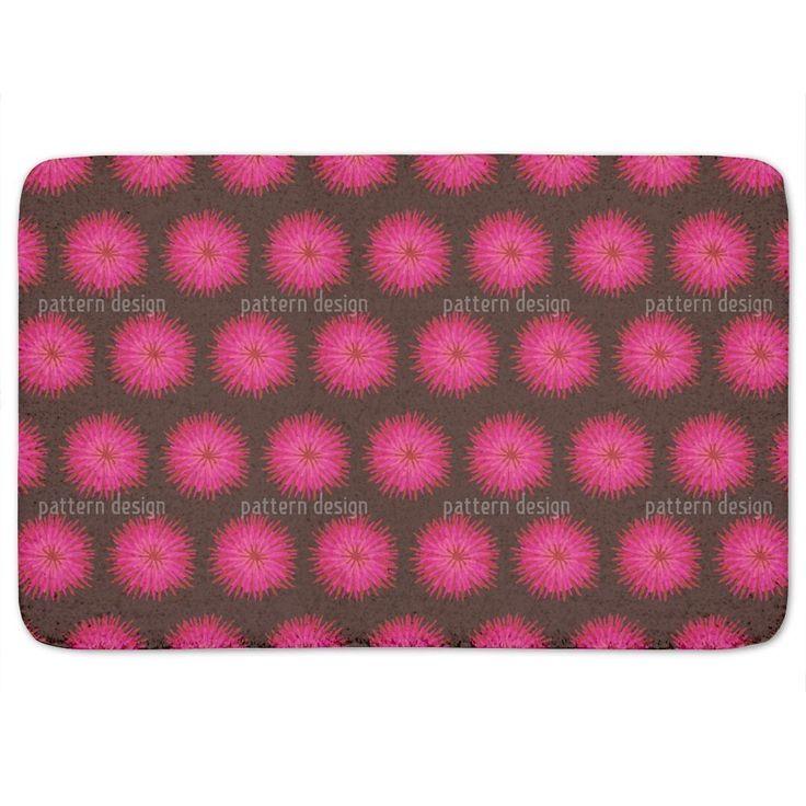 Uneekee Dahlia Pink Bath Mat