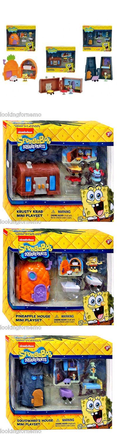 SpongeBob Squarepants 20919: Spongebob Mini Playset All 3 Sets Squidwards House, Pineapple House, Krusty Krab -> BUY IT NOW ONLY: $79.99 on eBay!