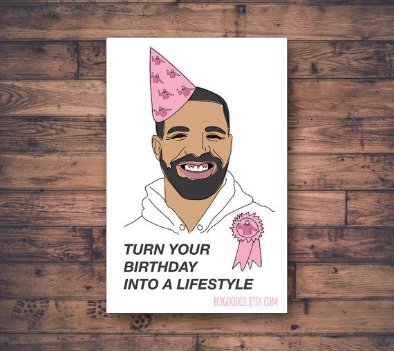 Printable Birthday Card - Turn Your Birthday Into a Lifestyle - Pop Style - Funny Birthday Card - Printable Digital Card - Instant Download
