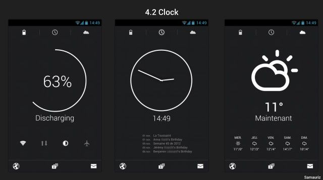 4.2 clock android | #ui