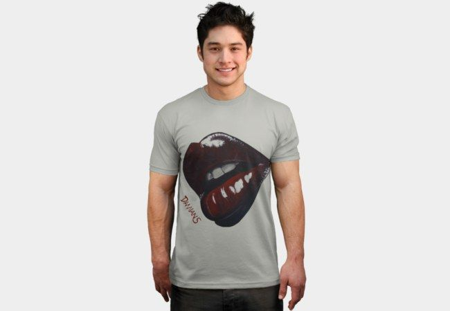 Bitten - Lips painting by Damian Smith T-Shirt - Design By Humans