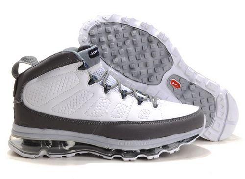 22% OFF Men's Nike Air Max Jordan 9 Shoes White/Dark Grey $99.98
