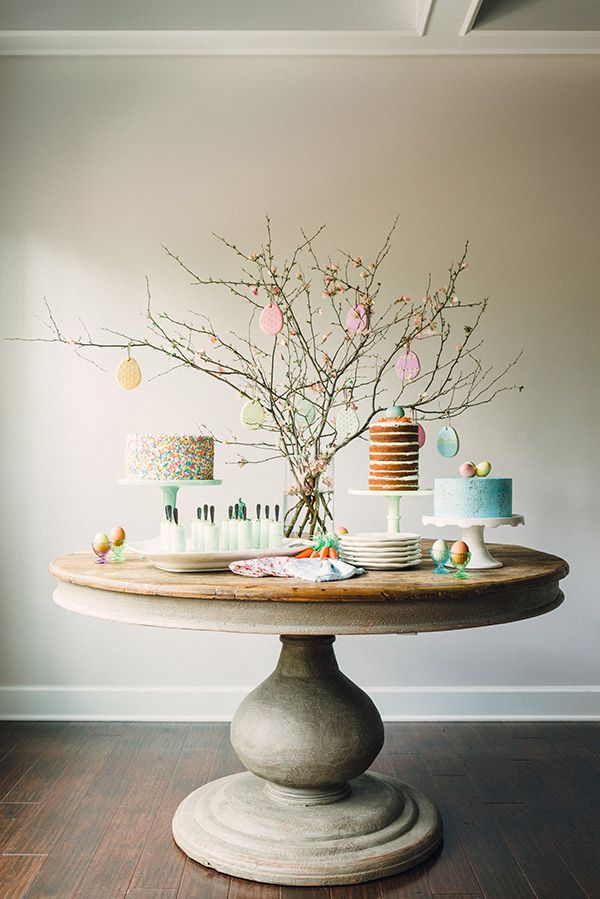 Easter desserts and table