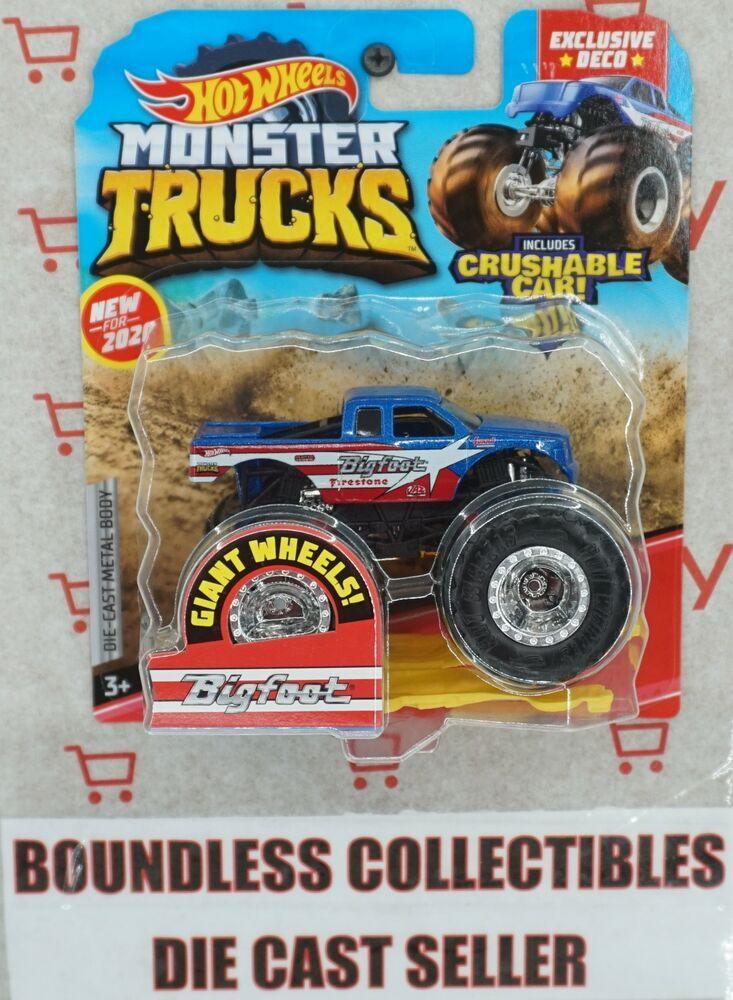 Hot Wheels Monster Truck Bigfoot Target Chase 2020 Firestone Exclusive Vhtf Hotwheels In 2020 Monster Trucks Monster Truck Party Hot Wheels