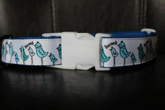 1 Tweety Bird Dog Collar with Charm by MarysBigSheep on Etsy, $25.00