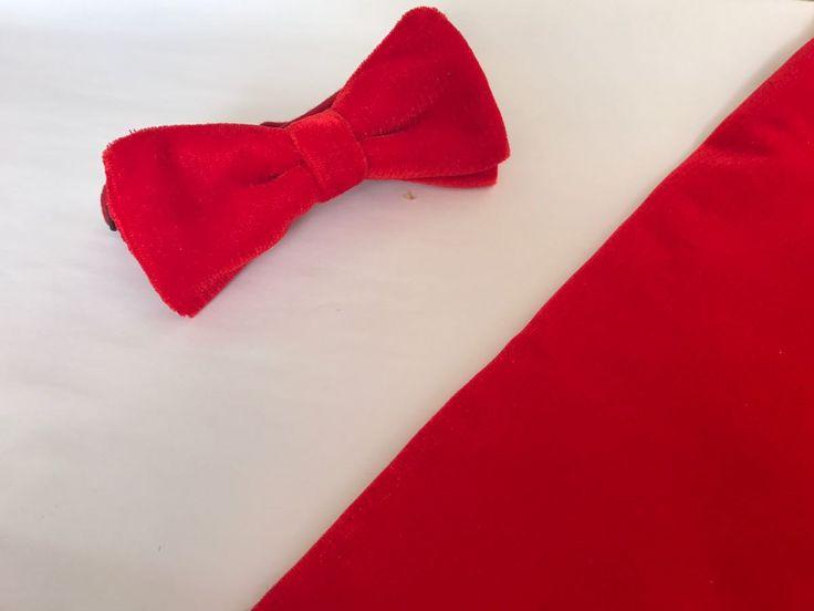 Pajarita roja de terciopelo. Elegante y con una textura suave. No olvides visitar nuestra página en fB: Teokentli