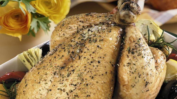 Honey Glazed Roast Chicken with Sage Apple Stuffing
