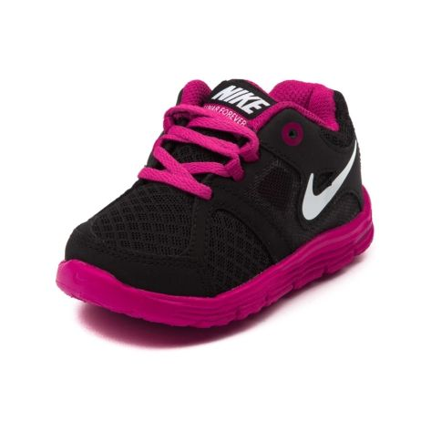 Shop for Toddler Nike Lunar 4-Ever Athletic Shoe in Black Pink at Journeys Shoes. Shop today for the hottest brands in mens shoes and womens shoes at Journeys.com.Ready to handle and support her active lifestyle, the Nike Lunar 4-Ever features a breathable meshsynthetic upper, Lunarlon midsole unit for additional cushioning and support, and a non-marking rubber outsole with street-ready tread.