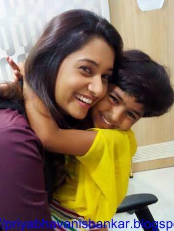 Priya Bhavani Shankar with Small Kid