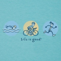 """Life is Good"" products. I'm a HUGE fan of all their wares. www.lifeisgood.com"