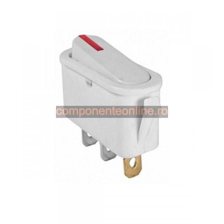 Intrerupator cu bec, ON-OFF, 16A, 250V, 29x31x12mm - 170590