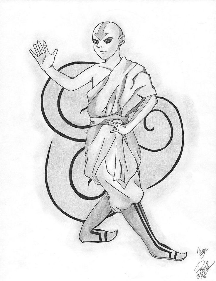 Air Element - Aang by wolf-by-the-moon on DeviantArt