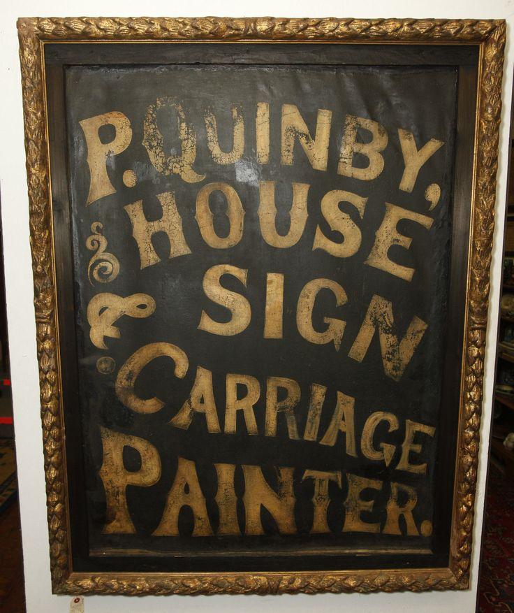 Period Antique Circa 1835 Sign Makers Folk Art Sign Linen RARE and Beautiful | eBay