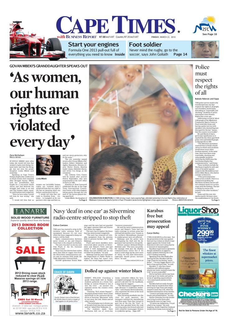 News making headlines:  'As women our human rights are violated every day'