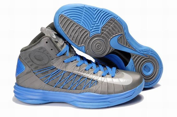 Wholesale Discount Nike Lunar Hyperdunk 2013 Cool Grey Blue Men's Basketball  Shoes For Sale