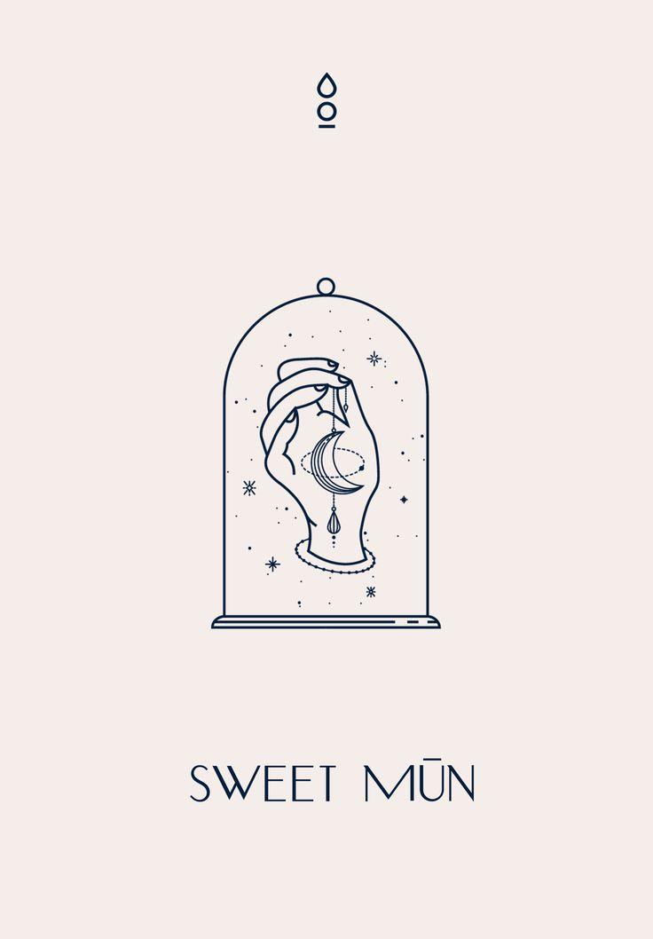 Sweet Mūn Brand Identity by Cocorrina