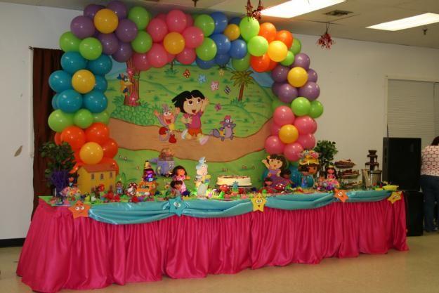 Dora Birthday Wall Decoration : Dora the explorer theme birthday party diego