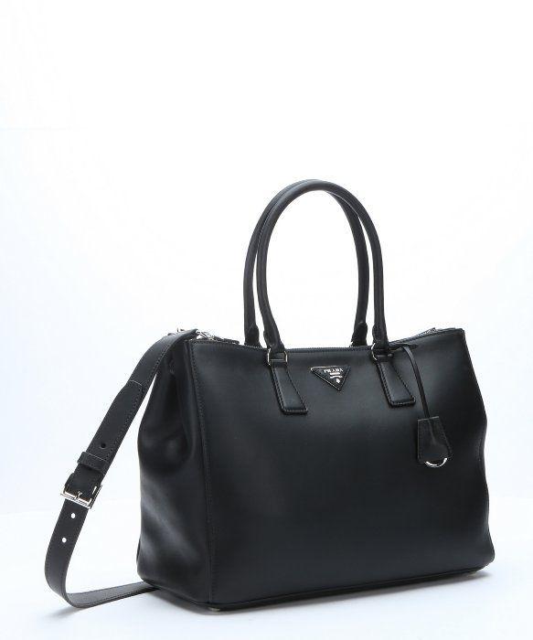 PRADA Black Leather Convertible Top Handle Tote. #prada #bags ...