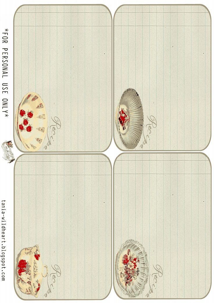 76 best Craft printables recipe cards images on Pinterest - free recipe card template for word