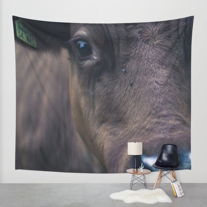 Cow Wall Tapestry by Mixed Imagery | Society6