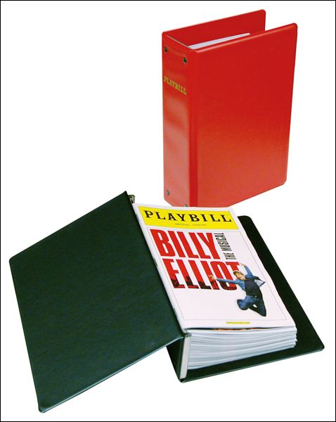The Basic Playbill Binder - Economical Storage for Your Playbill Collection $13.95