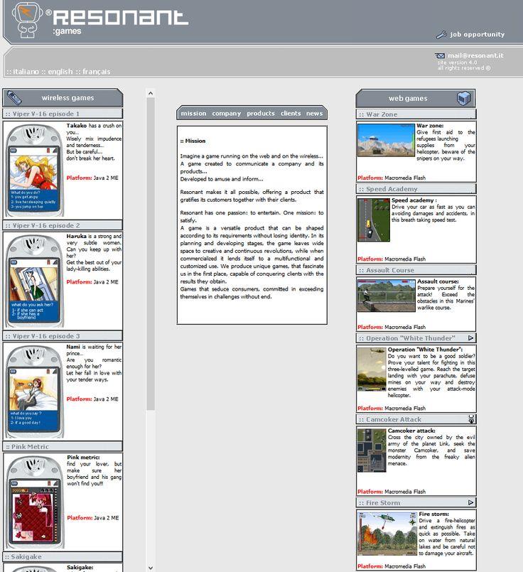 Resonant website in 2003