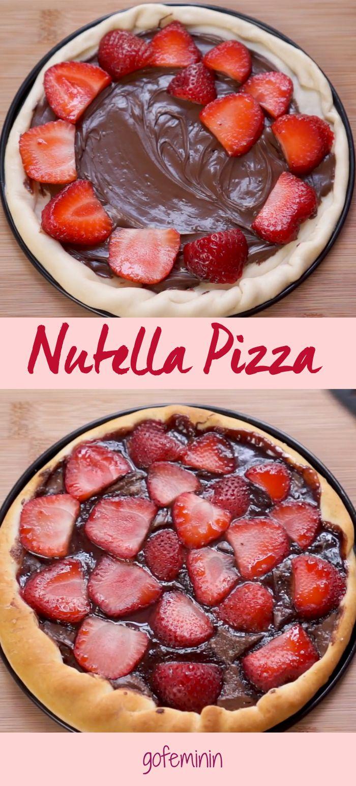 Yummy yummy yummy! Nutella Pizza mit Erdbeeren - Wir haben das Rezept! (Cup Cake Recipes)