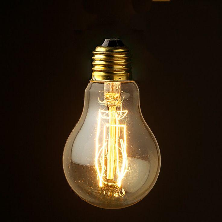 Vintage edison round smoke filament bulb