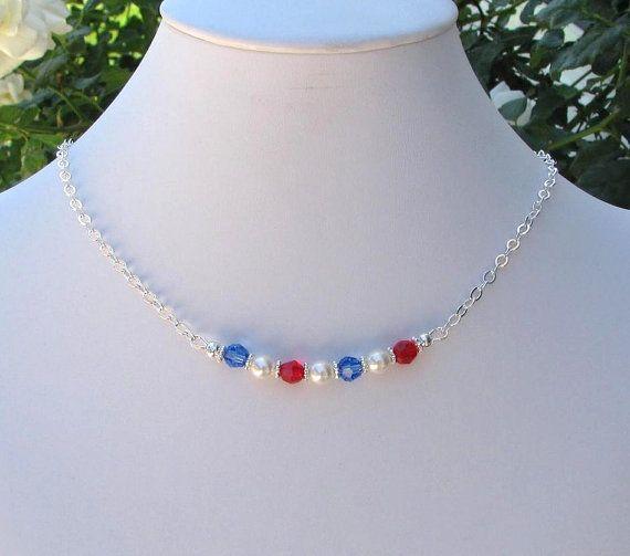 Patriotic Jewelry Patriotic Necklace by FashionJewelrybyCarm, $15.00