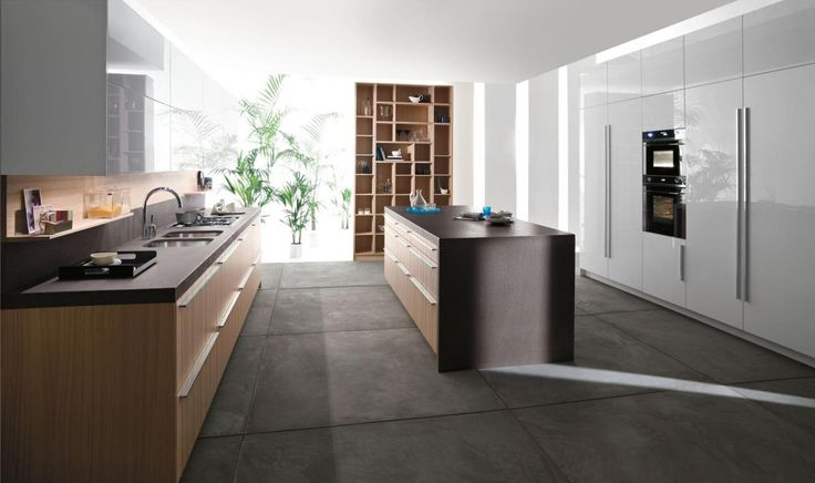 Concrete Floor Kitchen Modern Minimalit Style With Several Plants For Decoration Regarding Top 10 Kit