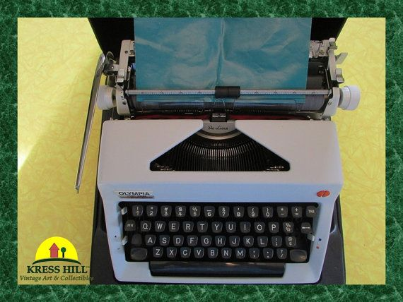 Olympia  De Luxe Manual Typewriter Portable by KressHillVintage