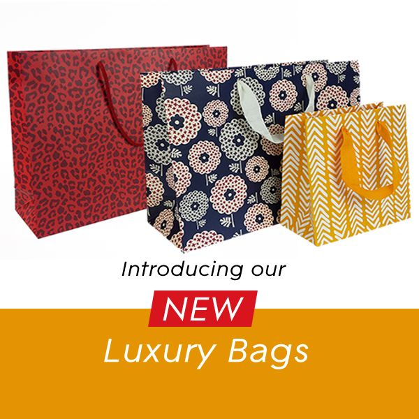 Our stunning NEW Luxury bags ,with exclusive designs by JJ O'Toole Ltd, are now in stock. #luxury #carrierbags #exclusive #packaging #design #retail #shopping #retailers