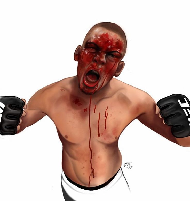 First drawing on 2017 wohoo~  #natediaz #ufc #bloody #drawing #mma #ipaddrawing