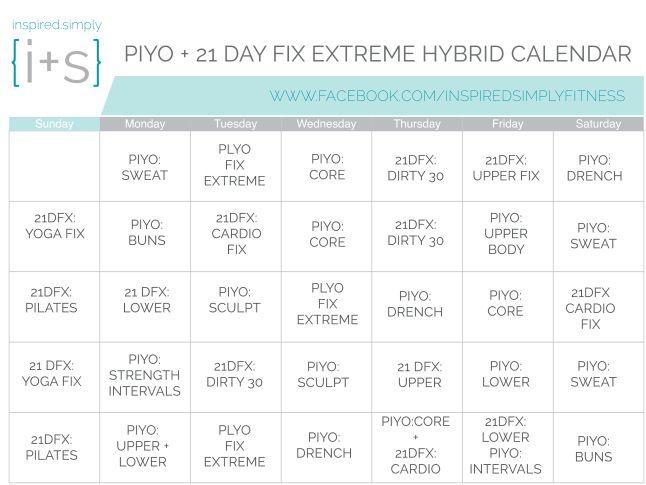20+ parasta ideaa Pinterestissä Piyo workout calendar - workout calendar