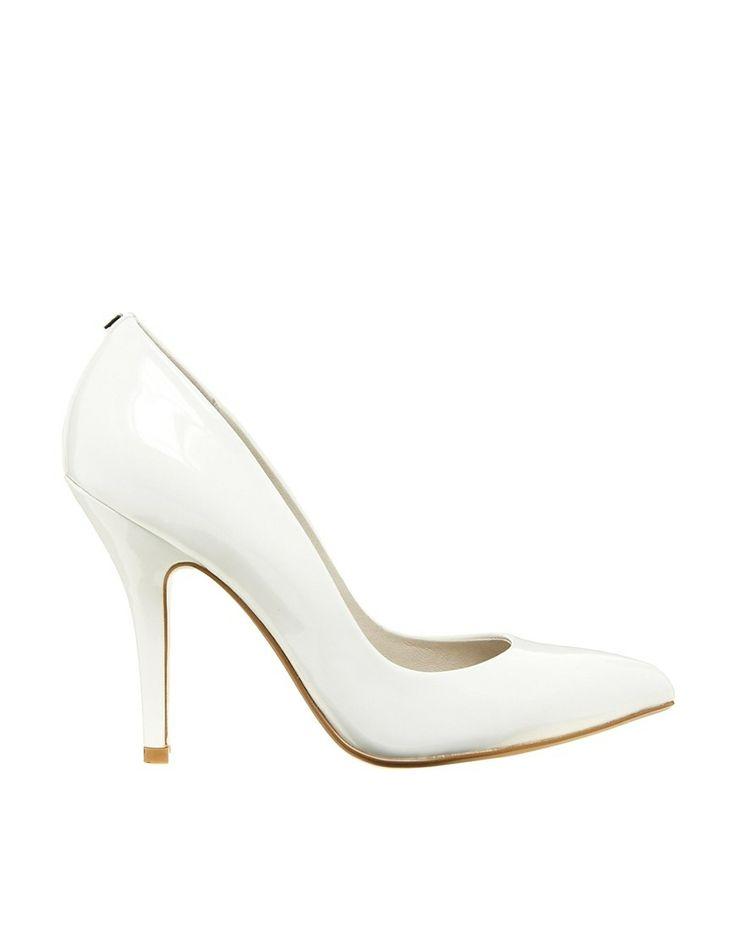 Faith Callaway white court shoes