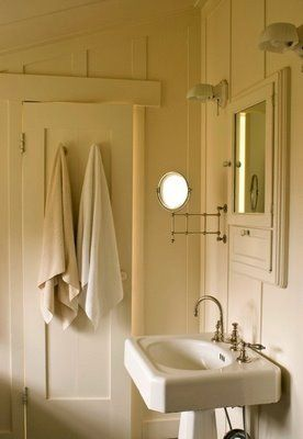 Photo Image Beadboard bathroom i like the two lamps medicine cabinet and swing are mirror