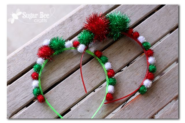 Sugar Bee Crafts: sewing, recipes, crafts, photo tips, and more!: Holiday Headbands