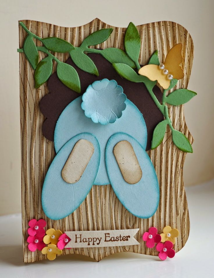 """By Gina Wiseman for """"The Firefly Studio"""", an xtra cute """"Bunny Top Note Easter Box"""", featuring the Stampin' Up! """"Top Note"""" Die. The Tutorial for this cute project can be viewed via YouTube / SplitCoastStampers https://www.youtube.com/watch?v=taGqWS1IMDM"""