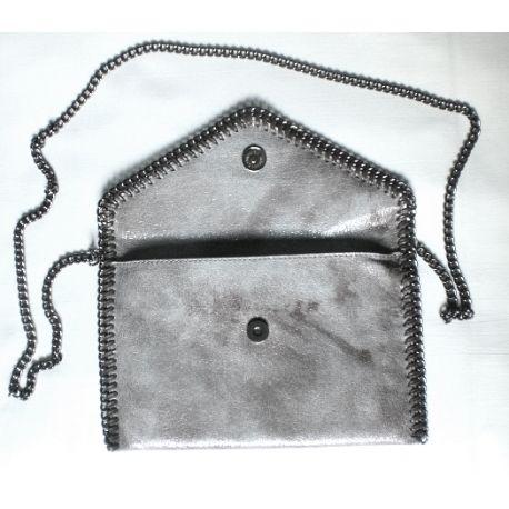 Envelope studded purse