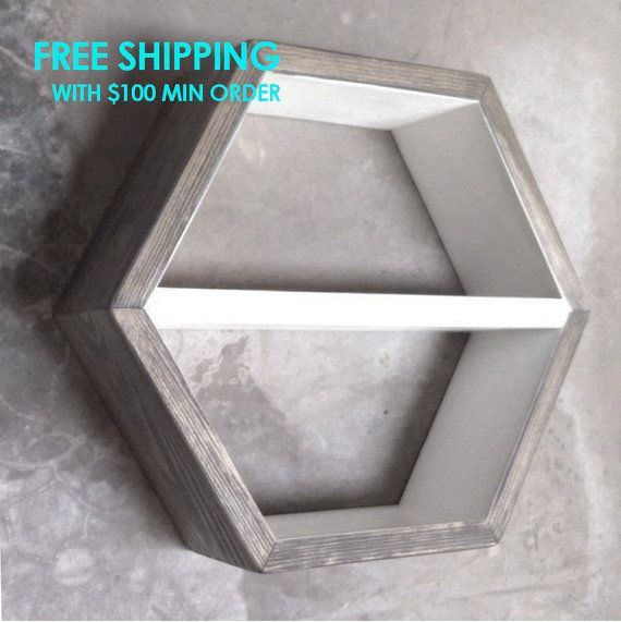 1000 Images About Hexagon Shelves On Pinterest Grey