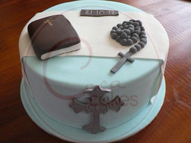 Coca Cakes - Religous - First Communion Blue