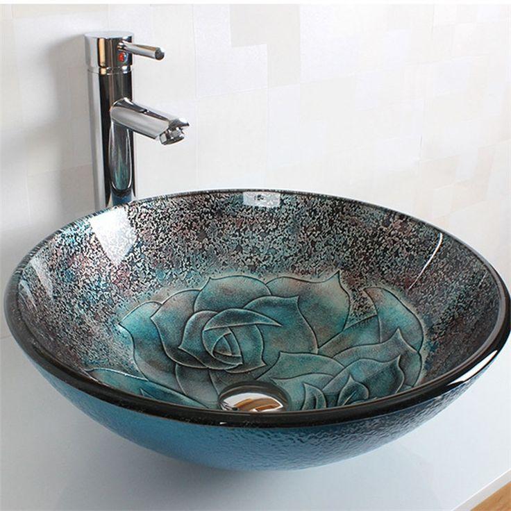 彩色上絵洗面ボウル 洗面台 洗面器 手洗器 手洗い鉢 洗面ボール 排水金具付 HAM109