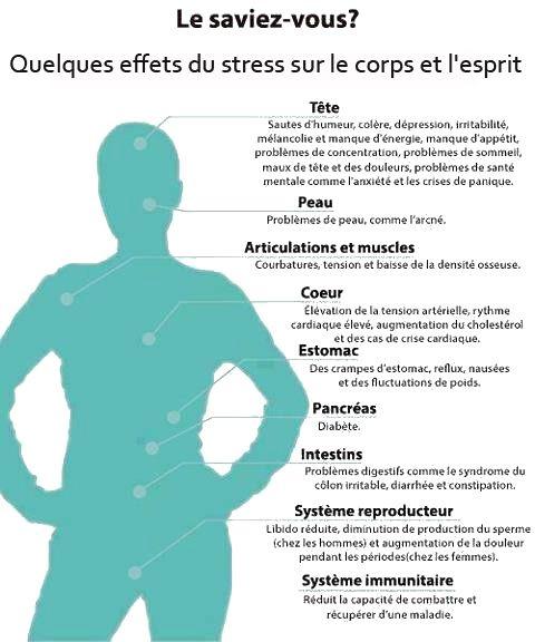 les effets du stress sur le corps et l'esprit