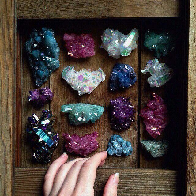 466 best rocks crystals gems oh my images on pinterest healing mineralietymagical box of aura crystals sacra luna let us peek fandeluxe Images